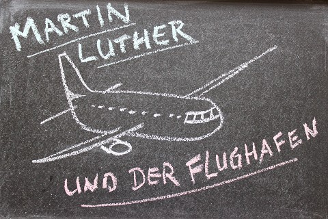 Martin Luther im Flugzeug