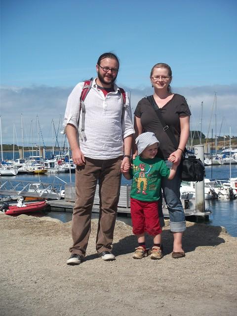 unsere Familie in der Bretagne