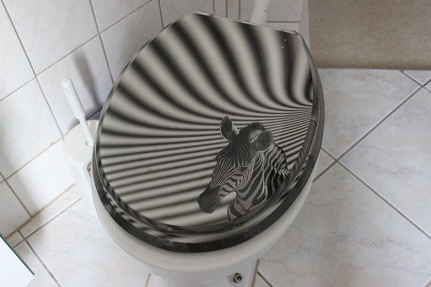 Klodeckel mit Zebra