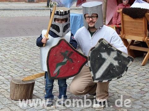 Ich bin mit meinem Sohn im Mittelalter angekommen